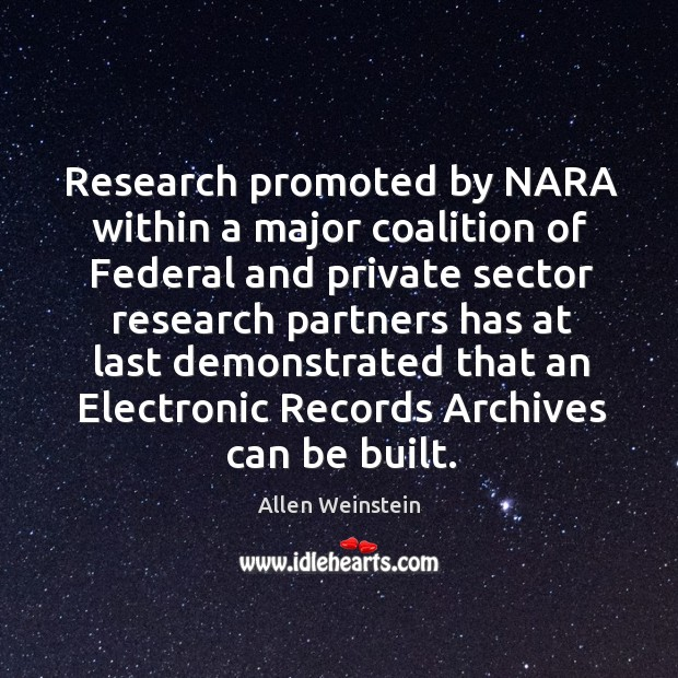 Image, Research promoted by nara within a major coalition of federal and private sector