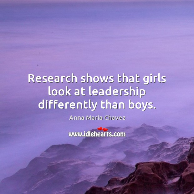 Image, Research shows that girls look at leadership differently than boys.
