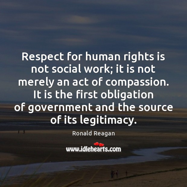 Image, Respect for human rights is not social work; it is not merely