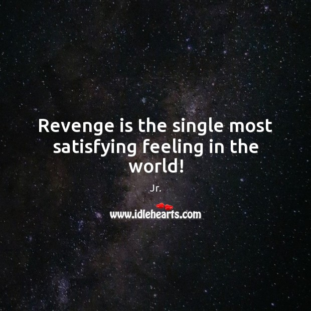 Revenge is the single most satisfying feeling in the world! Revenge Quotes Image