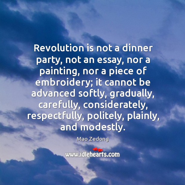 Revolution is not a dinner party, not an essay, nor a painting, Image