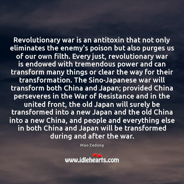Revolutionary war is an antitoxin that not only eliminates the enemy's poison Image