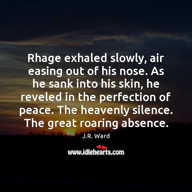 Image, Rhage exhaled slowly, air easing out of his nose. As he sank