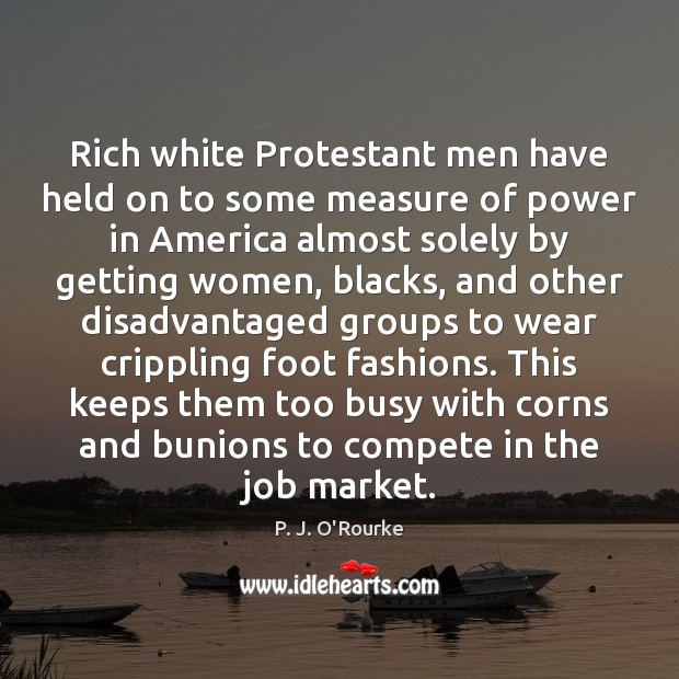 Rich white Protestant men have held on to some measure of power Image