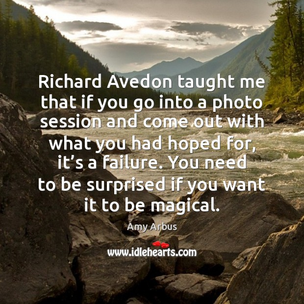 Image, Richard Avedon taught me that if you go into a photo session