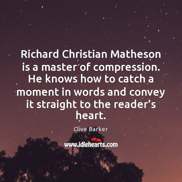 Richard Christian Matheson is a master of compression. He knows how to Image