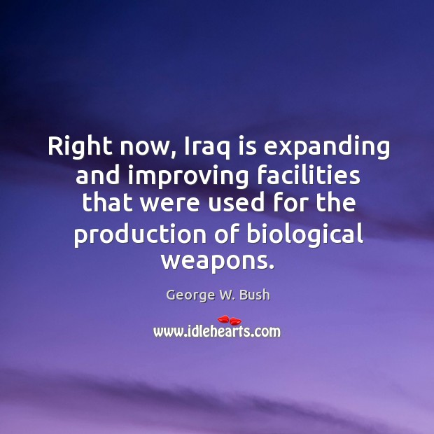 Image, Right now, Iraq is expanding and improving facilities that were used for