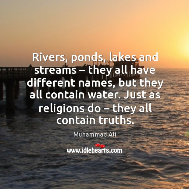 Image, Rivers, ponds, lakes and streams – they all have different names, but they all contain water.