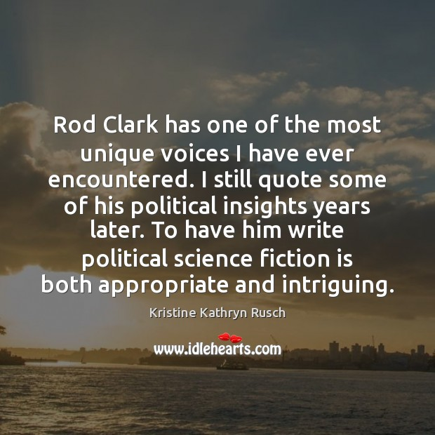 Rod Clark has one of the most unique voices I have ever Image