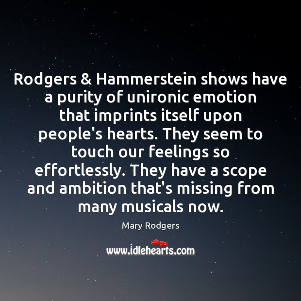 Rodgers & Hammerstein shows have a purity of unironic emotion that imprints itself Image