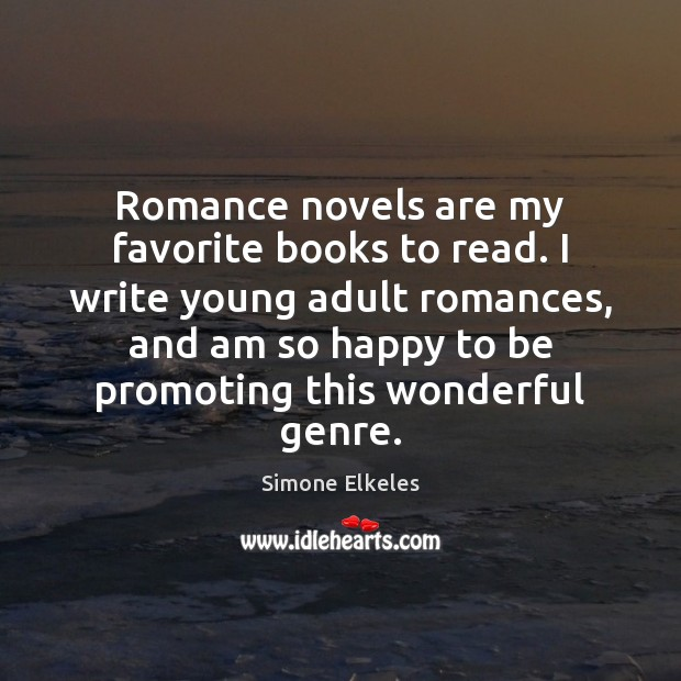 Image, Romance novels are my favorite books to read. I write young adult