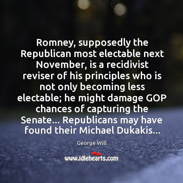 Romney, supposedly the Republican most electable next November, is a recidivist reviser Image