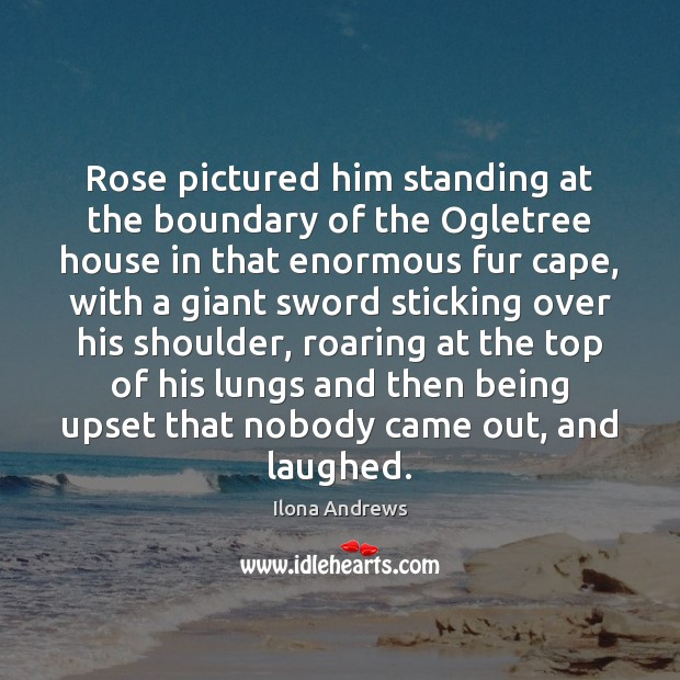Image, Rose pictured him standing at the boundary of the Ogletree house in