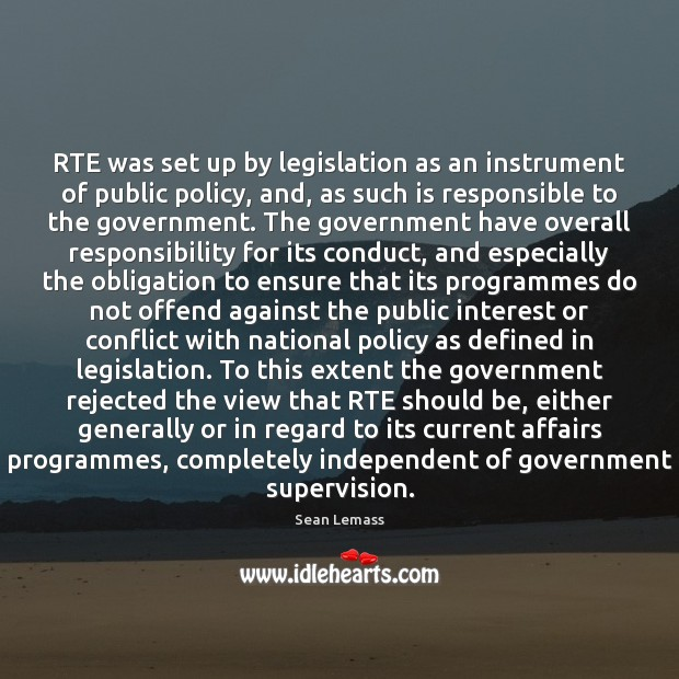 RTE was set up by legislation as an instrument of public policy, Image