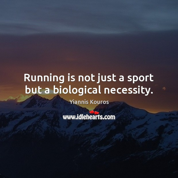Running is not just a sport but a biological necessity. Image