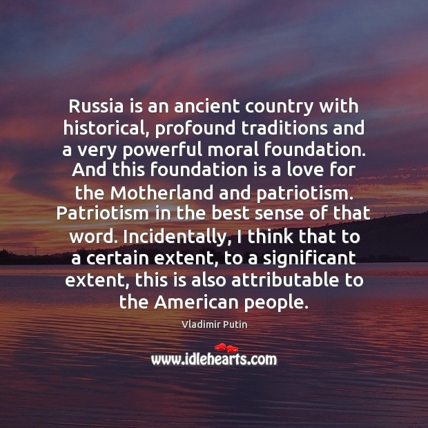 Image, Russia is an ancient country with historical, profound traditions and a very