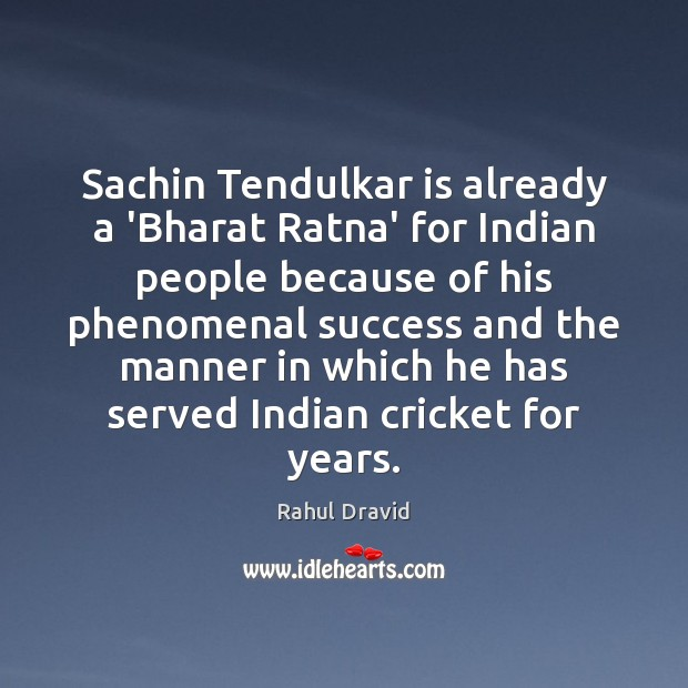 Image, Sachin Tendulkar is already a 'Bharat Ratna' for Indian people because of