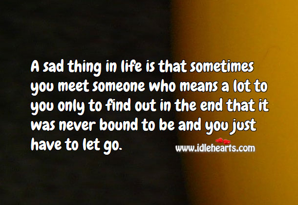 A sad thing in life Sad Quotes Image