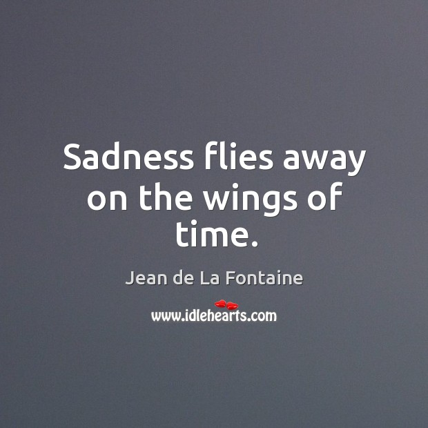 Sadness flies away on the wings of time. Image