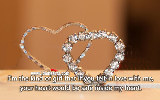 If you fell in love with me. Stay Safe Quotes Image