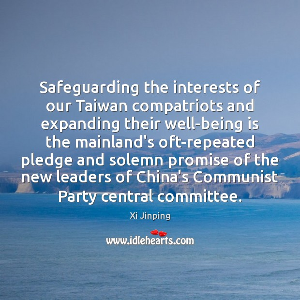 Image, Safeguarding the interests of our Taiwan compatriots and expanding their well-being is