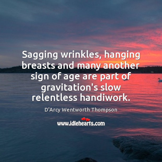 Sagging wrinkles, hanging breasts and many another sign of age are part Image