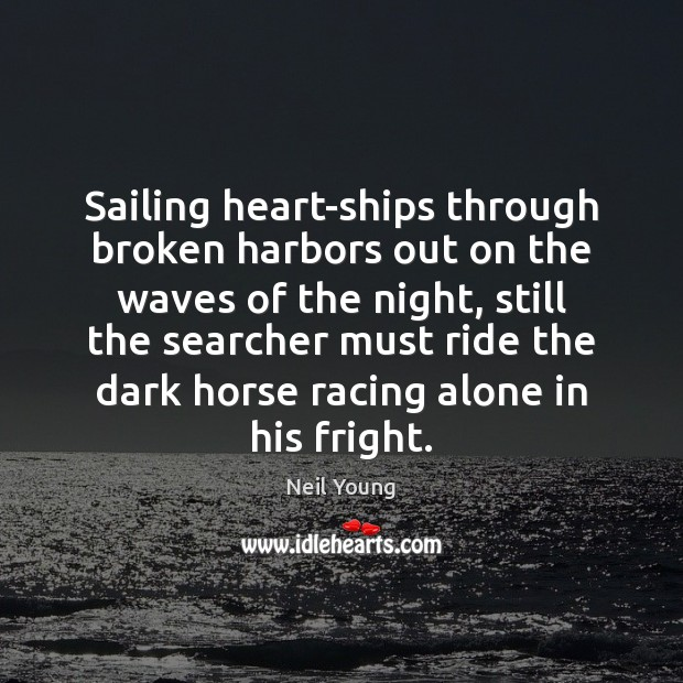 Sailing heart-ships through broken harbors out on the waves of the night, Image