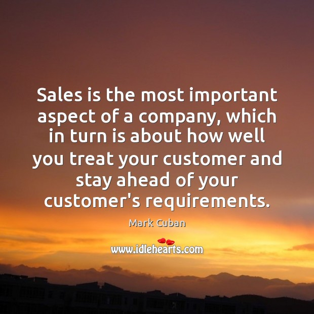 Sales is the most important aspect of a company, which in turn Image