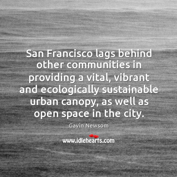 San francisco lags behind other communities in providing a vital Image