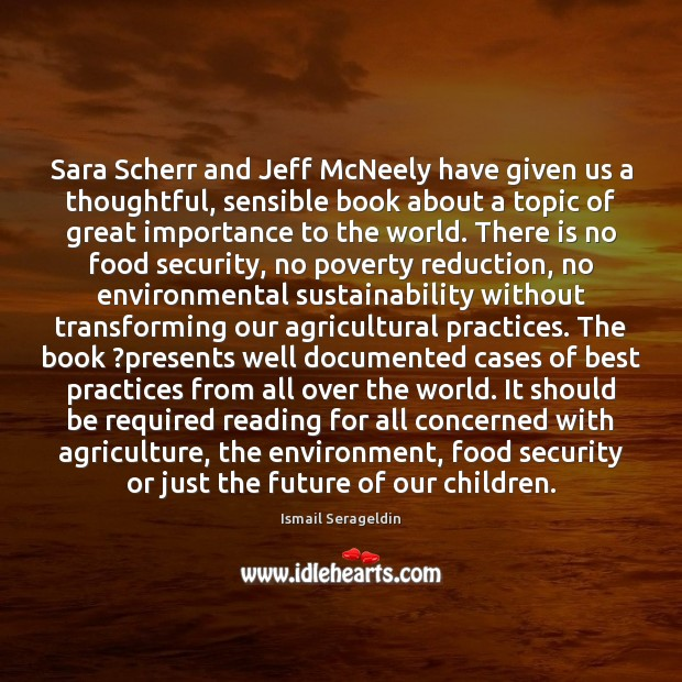 Image, Sara Scherr and Jeff McNeely have given us a thoughtful, sensible book