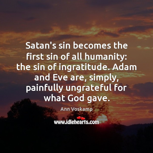 Image, Satan's sin becomes the first sin of all humanity: the sin of