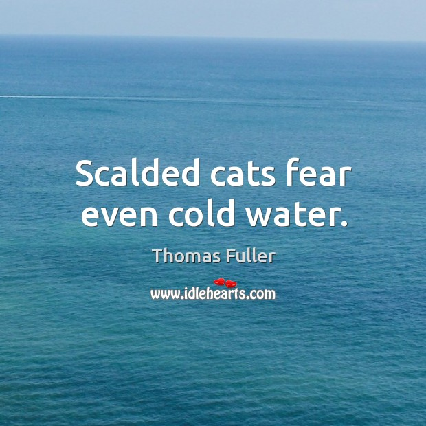 Scalded cats fear even cold water. Thomas Fuller Picture Quote