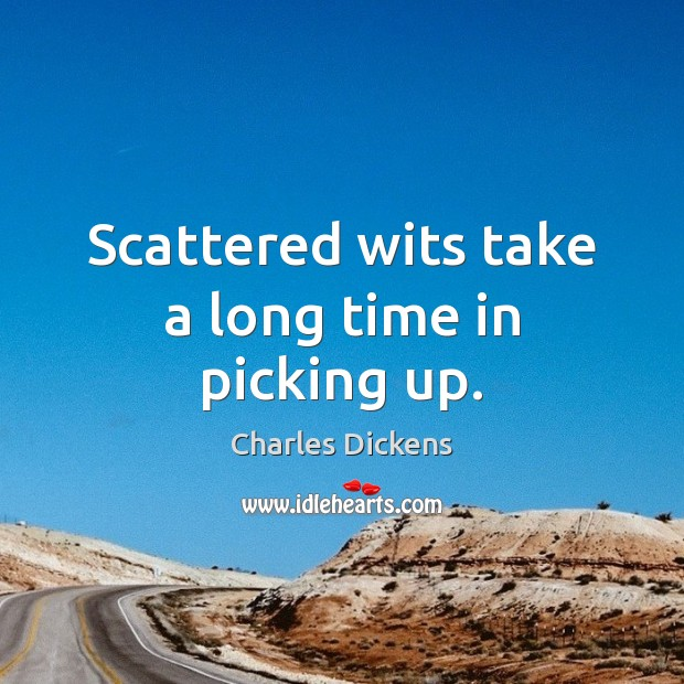 Image, Scattered wits take a long time in picking up.