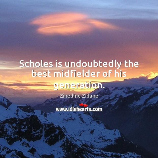 Scholes is undoubtedly the best midfielder of his generation. Image