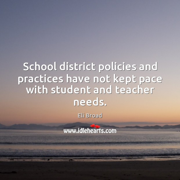 School district policies and practices have not kept pace with student and teacher needs. Image