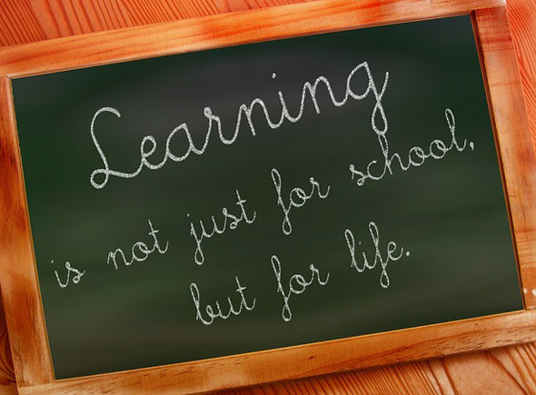 Learning Is For Life, Not Just For Schools.