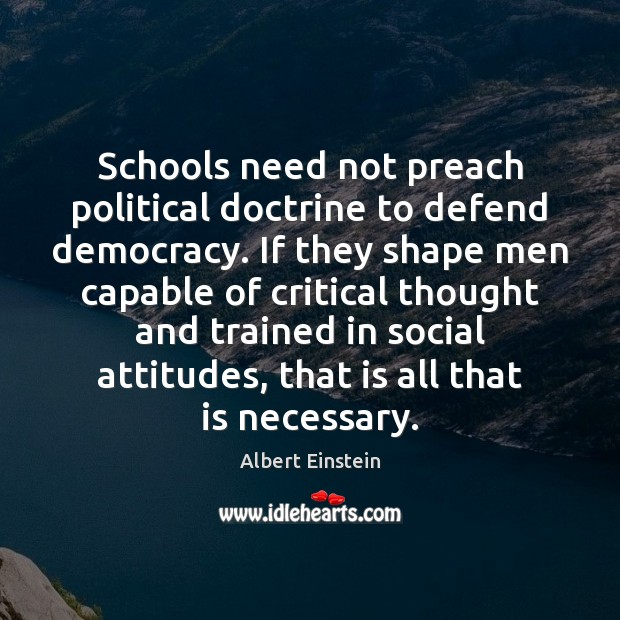 Image, Schools need not preach political doctrine to defend democracy. If they shape