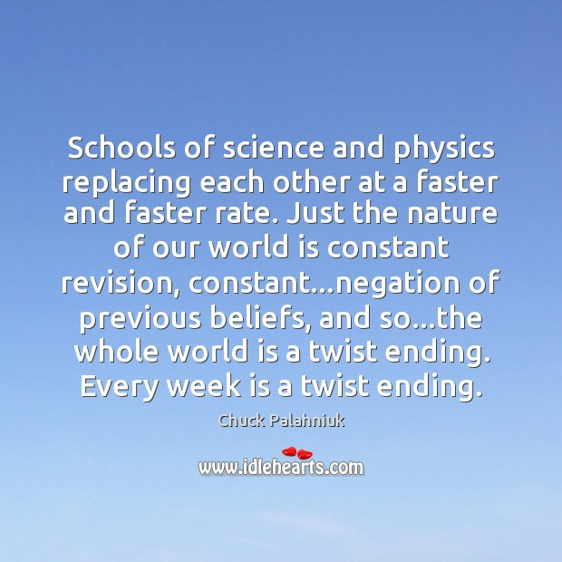 Image, Schools of science and physics replacing each other at a faster and