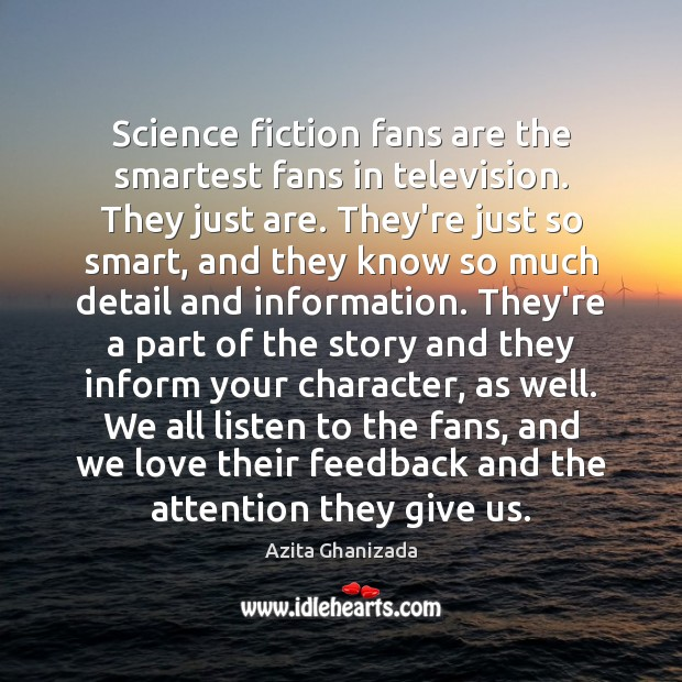 Image, Science fiction fans are the smartest fans in television. They just are.