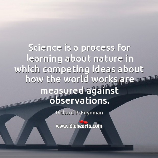 Science is a process for learning about nature in which competing ideas Image