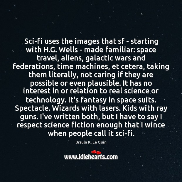 Sci-fi uses the images that sf – starting with H.G. Wells Image