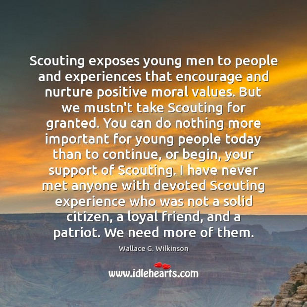 Image, Scouting exposes young men to people and experiences that encourage and nurture