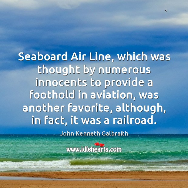 Seaboard Air Line, which was thought by numerous innocents to provide a Image
