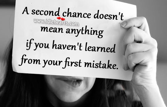 A second chance doesn't mean anything Image