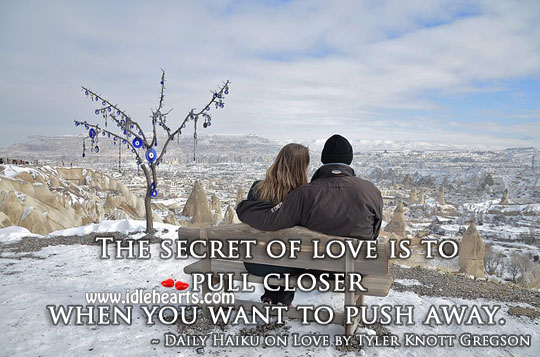 The secret of love Secret Quotes Image