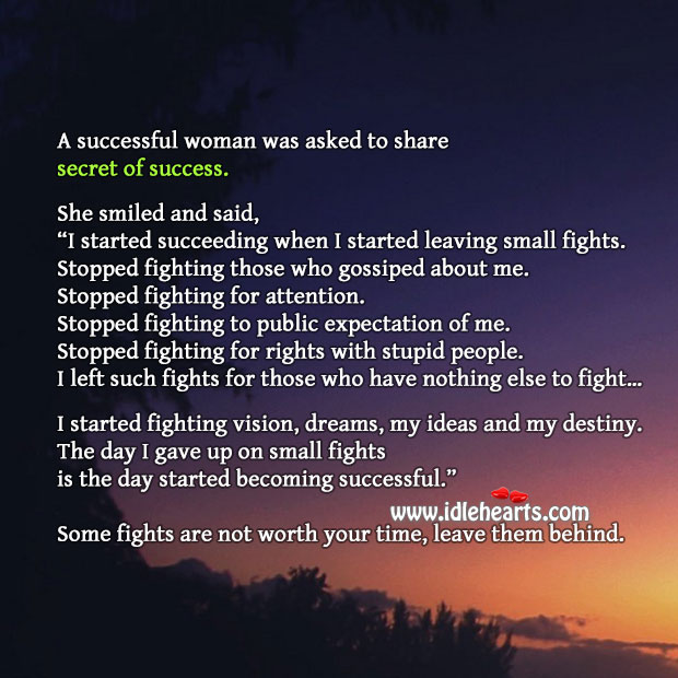 Secret of Success from Woman. Image