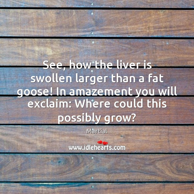 See, how the liver is swollen larger than a fat goose! In Image
