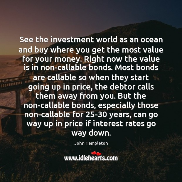 Image, See the investment world as an ocean and buy where you get