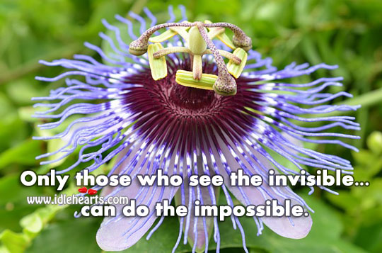 Only Those Who See The Invisible… Can Do The Impossible