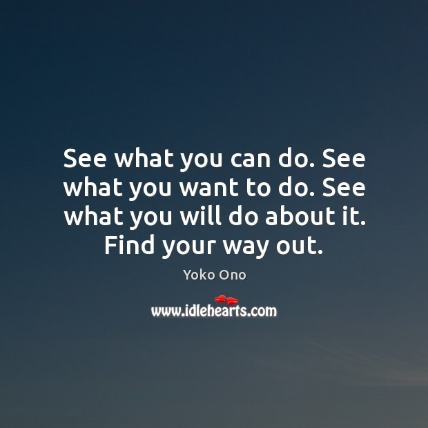 See what you can do. See what you want to do. See Image